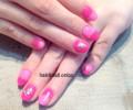 ピンク バイカラーネイル