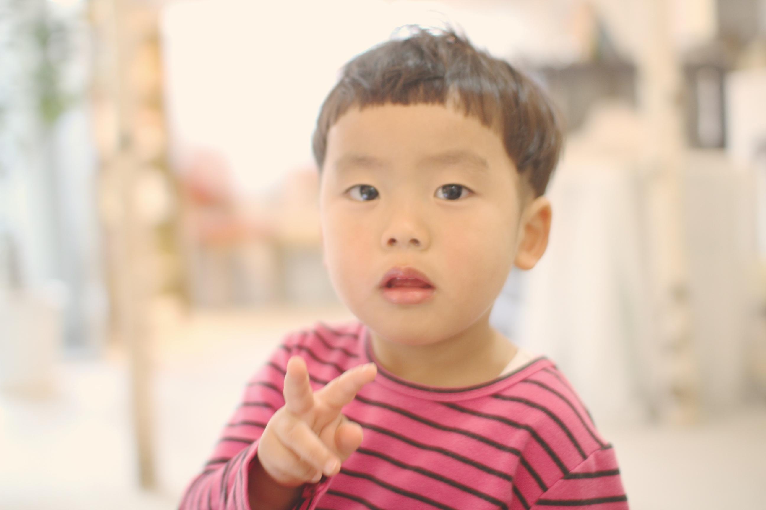 子供のマッシュルームカットイメージ2
