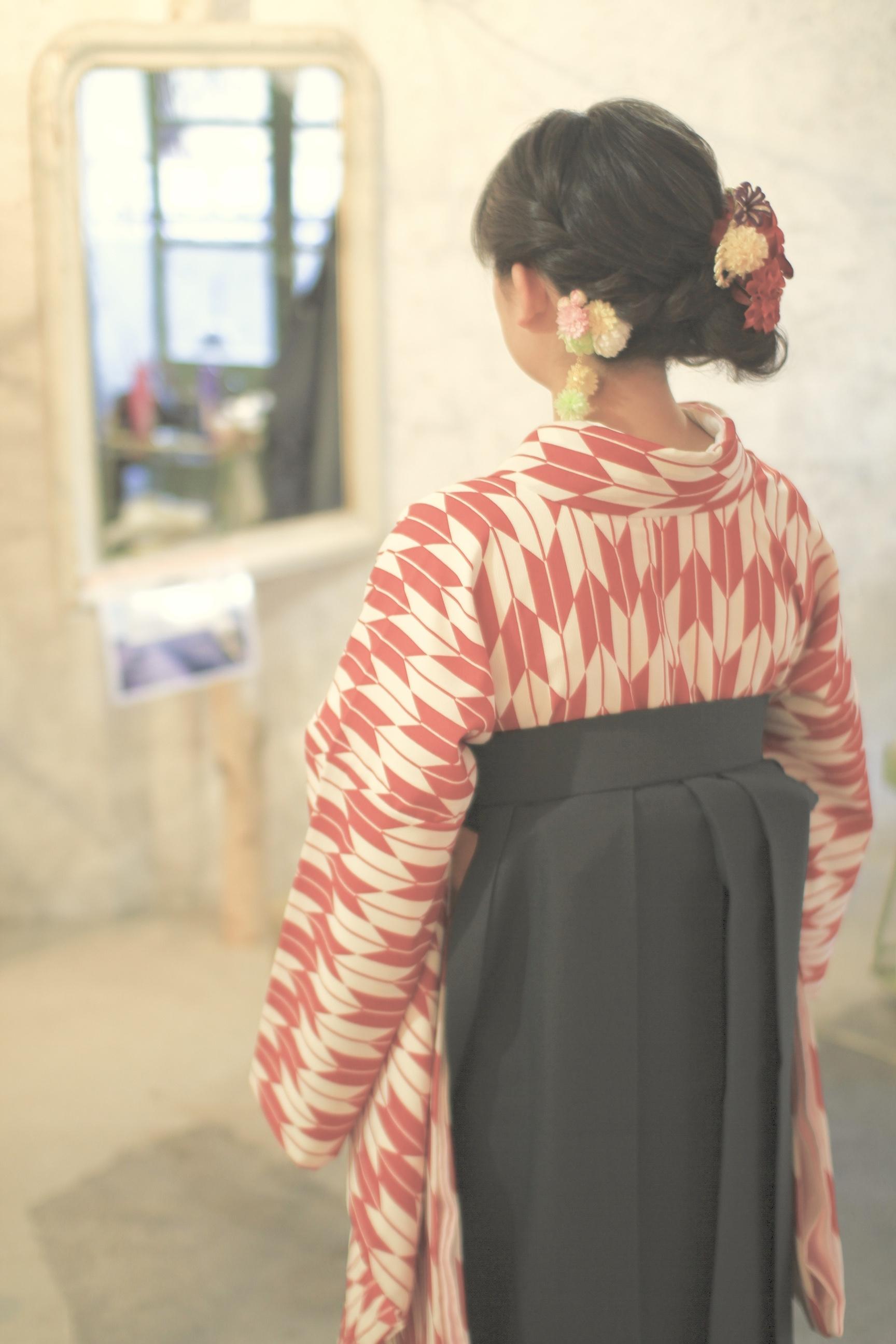 卒業式 袴 着付け & ヘアセットイメージ2